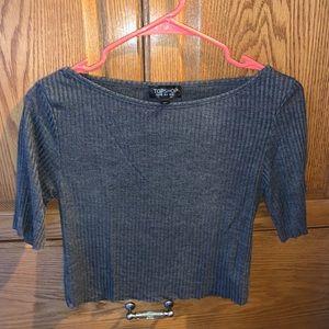 TOPSHOP Grey 3/3 Sleeve length shirt